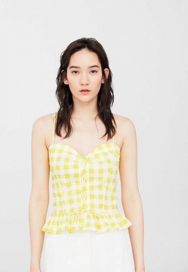 Фото - женский топ Mango желтого цвета