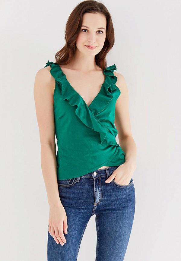 Фото - женский топ Mango зеленого цвета