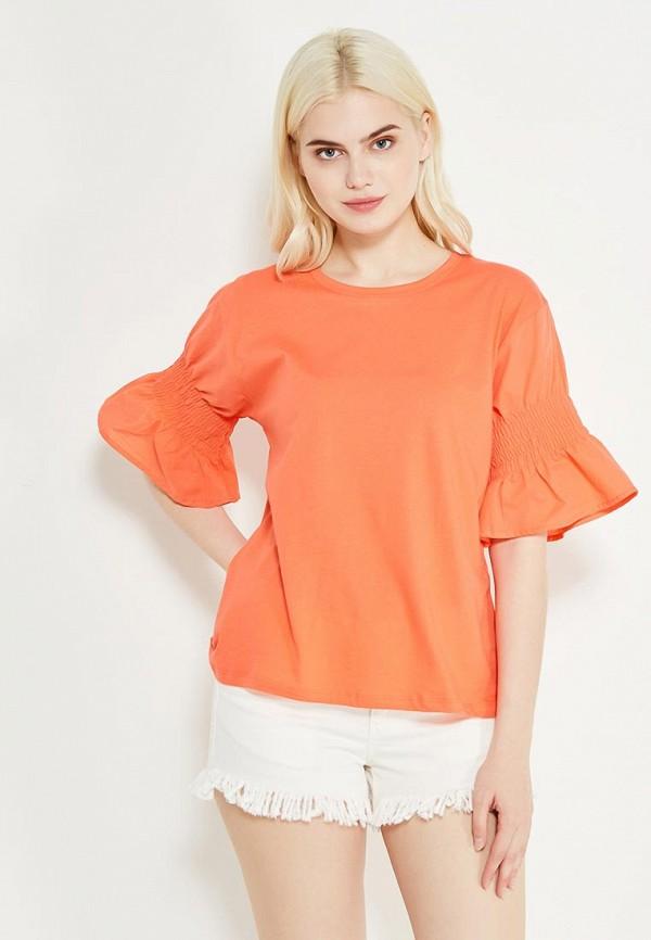 Фото - женскую футболку Mango кораллового цвета