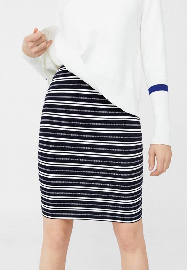 Фото - женскую юбку Mango синего цвета