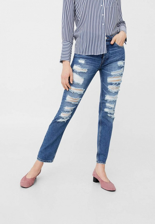 Фото - женские джинсы Mango синего цвета