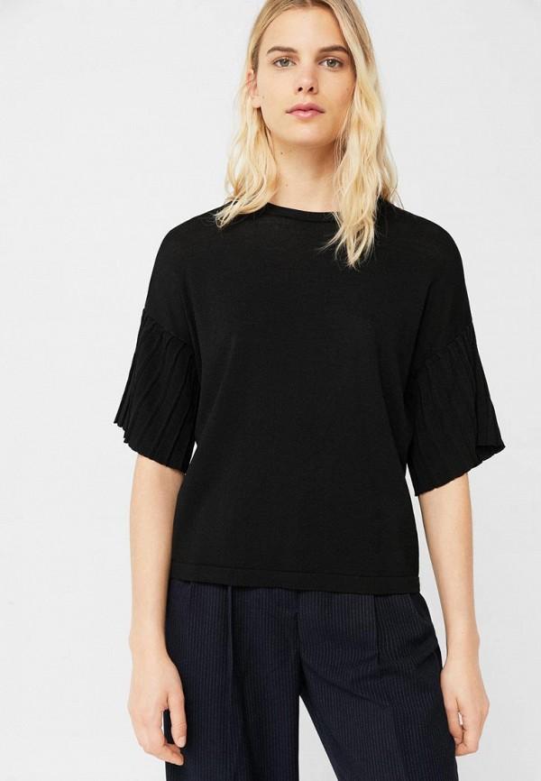 Фото - женскую футболку Mango черного цвета