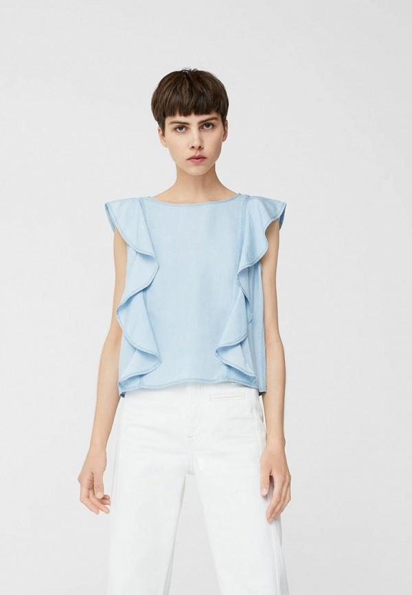 Фото - женский топ Mango голубого цвета