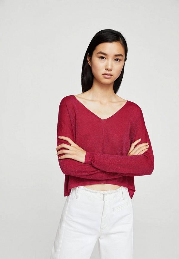 Фото - женский пуловер Mango бордового цвета