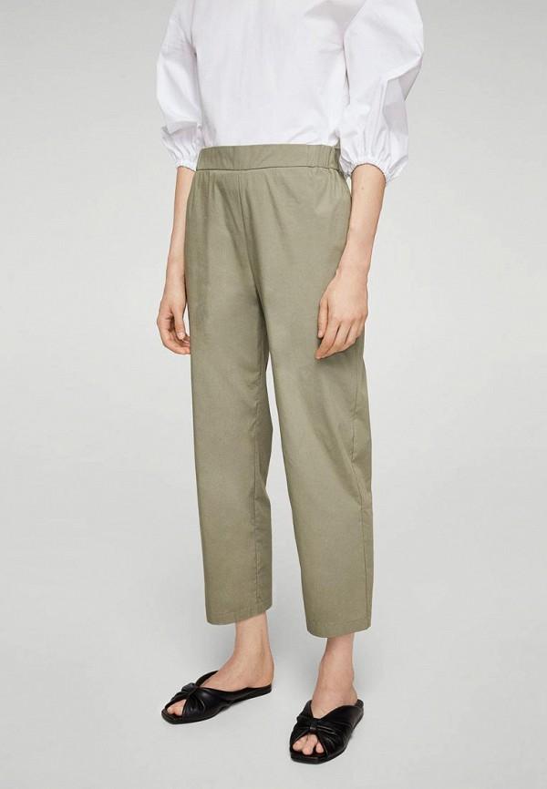 Фото - женские брюки Mango цвета хаки