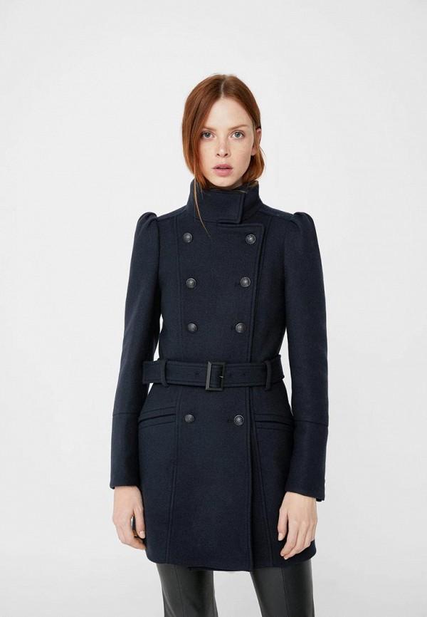 Фото - женское пальто или плащ Mango синего цвета