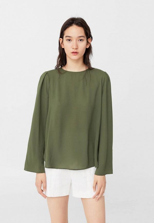 Фото - женскую блузку Mango цвета хаки