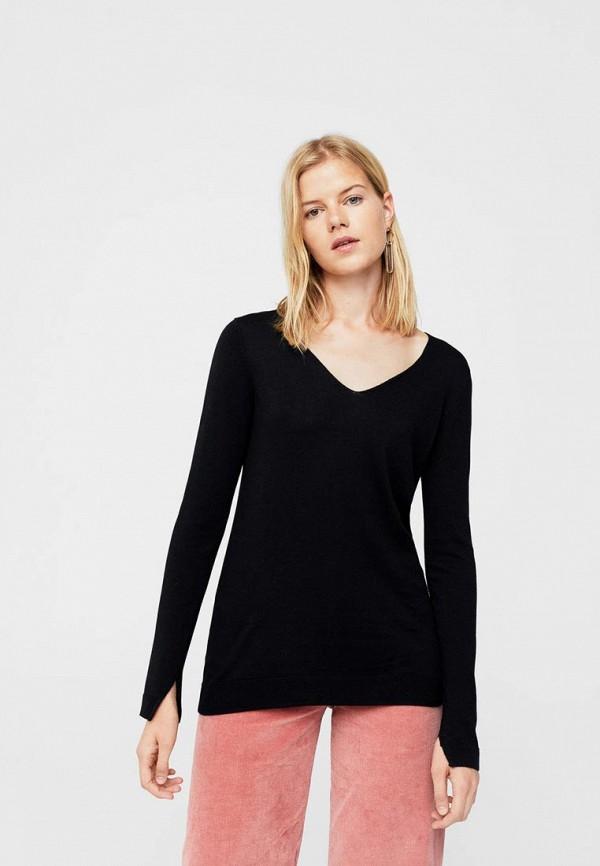 Фото - женский пуловер Mango черного цвета