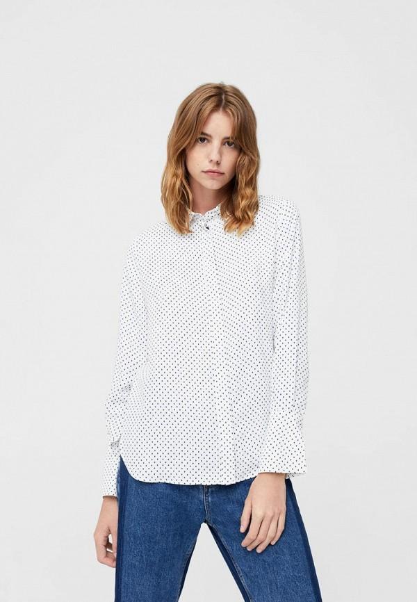 Фото - женскую рубашку Mango белого цвета