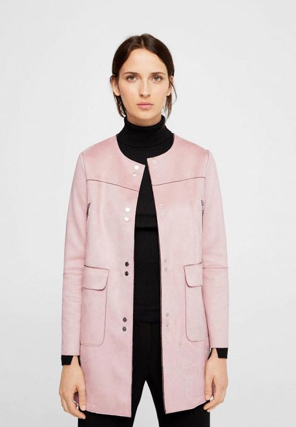 Фото - женское пальто или плащ Mango розового цвета