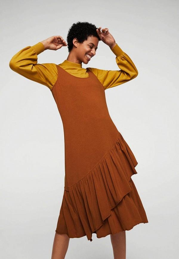Фото - женское платье Mango коричневого цвета