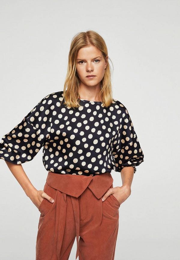 Фото - женскую блузку Mango синего цвета