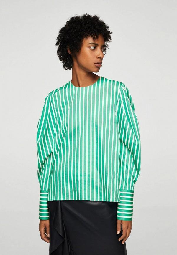 Фото - женскую блузку Mango зеленого цвета