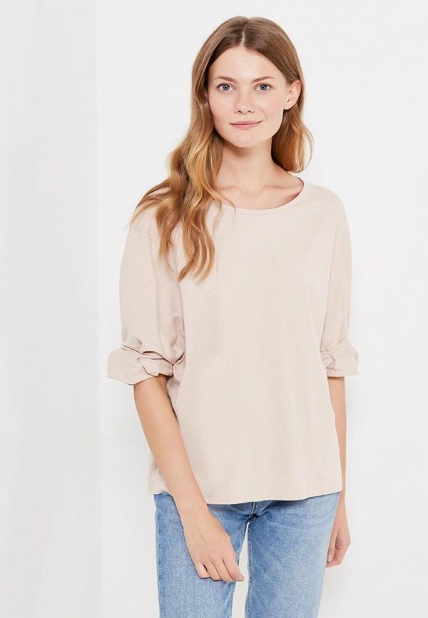 Фото - женскую футболку Mango бежевого цвета