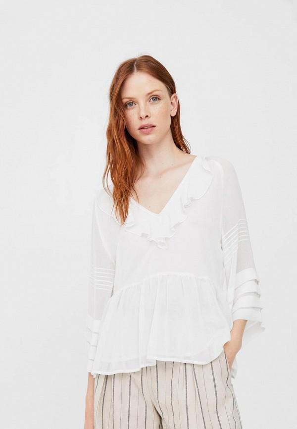 Фото - женскую блузку Mango белого цвета