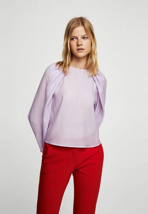 Фото - женскую блузку Mango фиолетового цвета