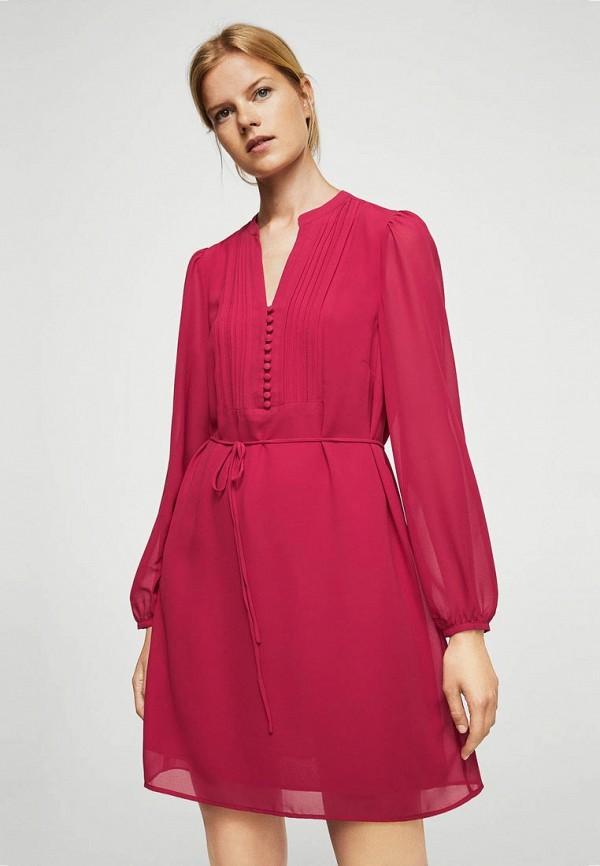 Фото - женское платье Mango розового цвета