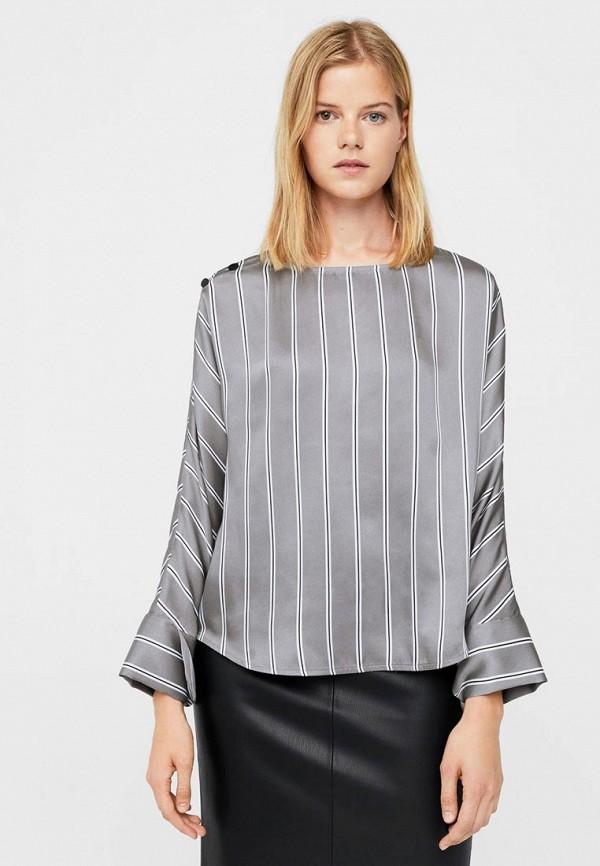 Фото - женскую блузку Mango серого цвета
