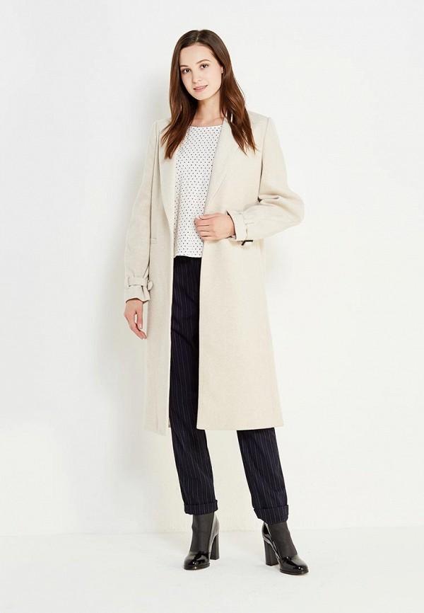 Фото - женское пальто или плащ Mango бежевого цвета