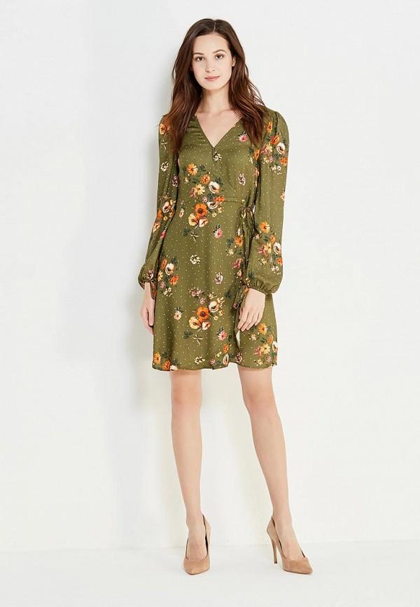 Фото - женское платье Mango цвета хаки