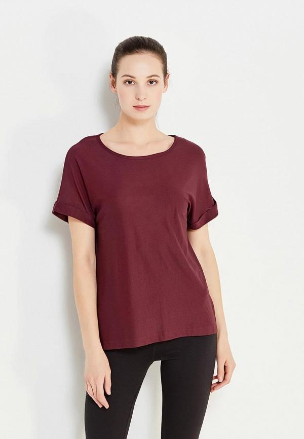 Фото - женскую футболку Mango бордового цвета