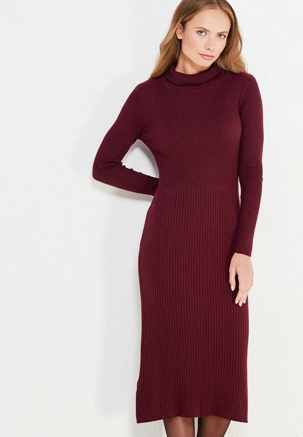 Фото - женское платье Mango бордового цвета