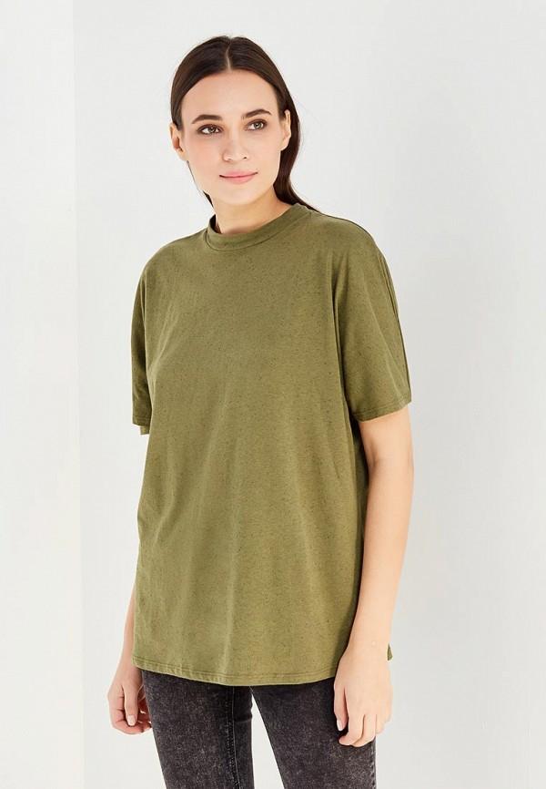 Фото - женскую футболку Mango зеленого цвета