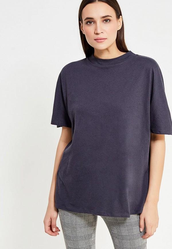 Фото - женскую футболку Mango синего цвета