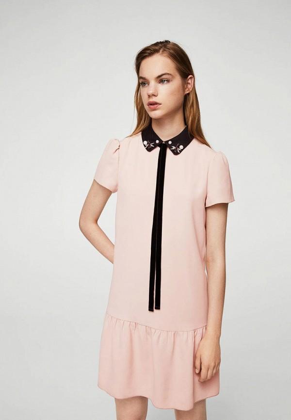 Платье Mango Mango MA002EWXMZ60 stylish short sleeve color block waist tied plus size blouse for women