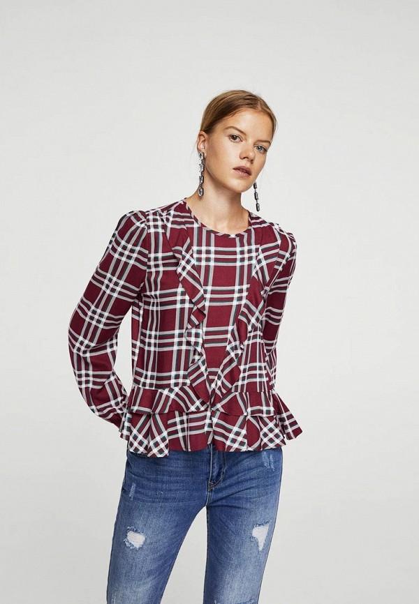 Фото - женскую блузку Mango бордового цвета
