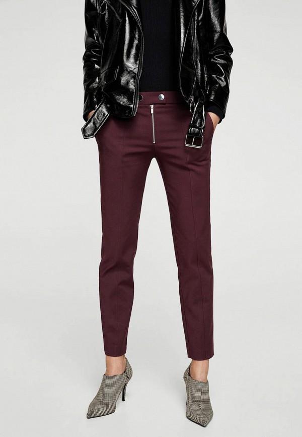 Фото - женские брюки Mango бордового цвета