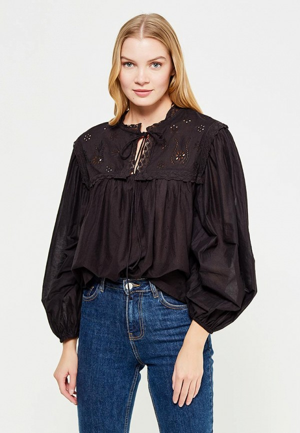Фото - женскую блузку Mango черного цвета