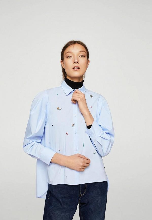 Фото - женскую блузку Mango голубого цвета