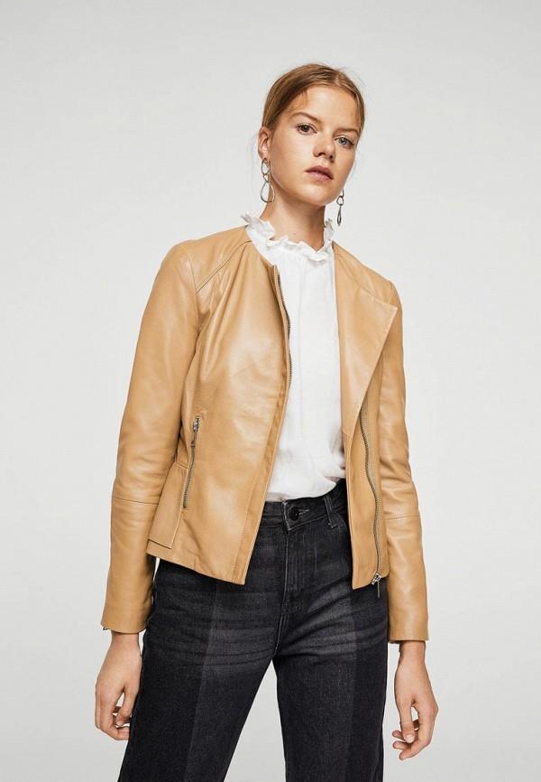 Куртка кожаная Mango Mango MA002EWYHL36 куртка кожаная mango mango ma002ewtjx91