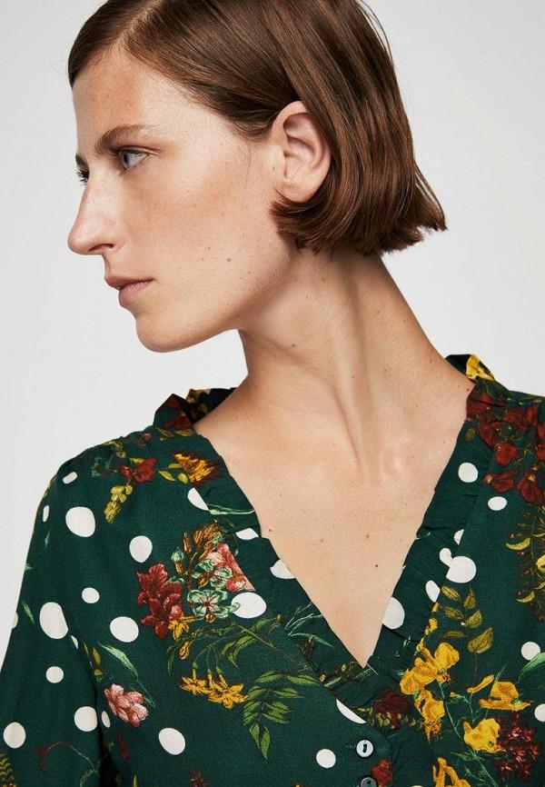 Фото 2 - женскую блузку Mango зеленого цвета