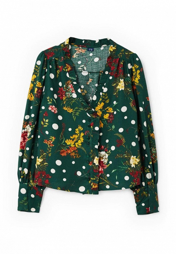 Фото 4 - женскую блузку Mango зеленого цвета