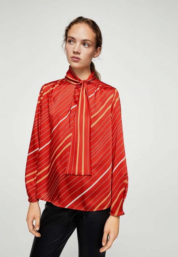 Фото - женскую блузку Mango оранжевого цвета