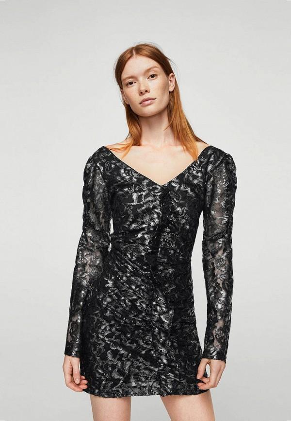 Фото - женское платье Mango серебрянного цвета