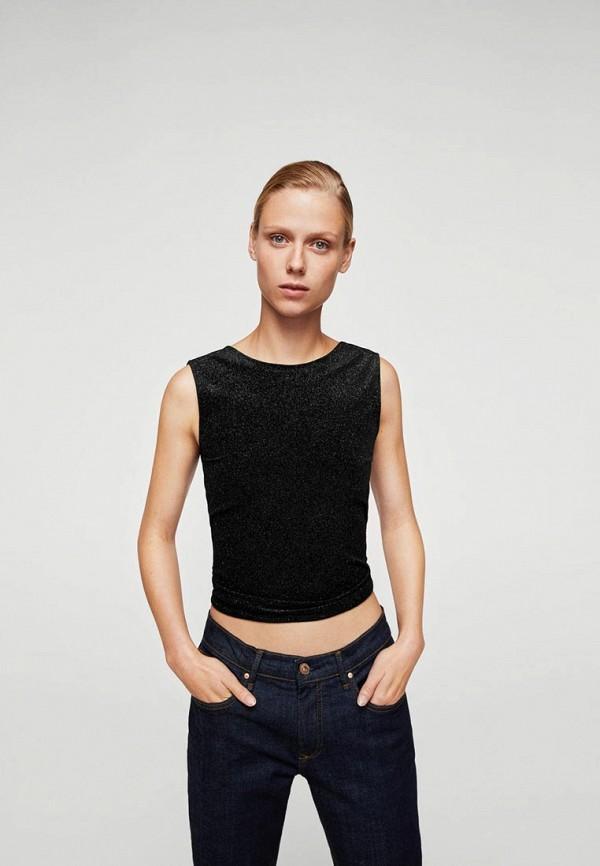 Фото - женский топ Mango черного цвета