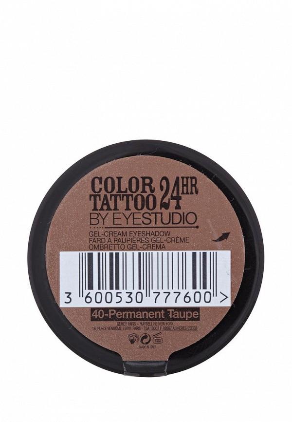 Тени Maybelline New York для век Color Tattoo 24 часа оттенок 40 Долговечный коричневый 4 мл
