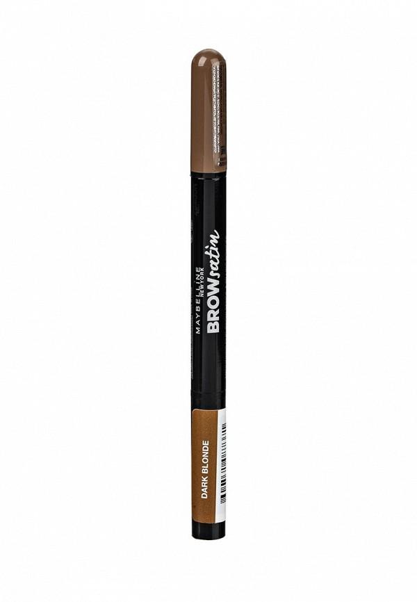 Карандаш Maybelline New York для бровей Brow Satin оттенок 01 Темный блонд, 7,1 гр