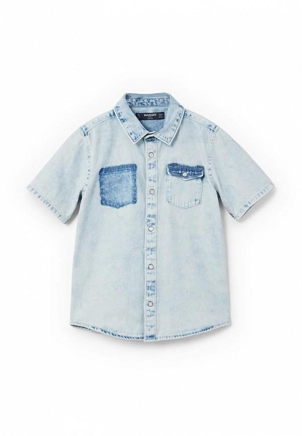 Рубашка джинсовая Mango Kids Mango Kids MA018EBAFHV0 рубашка mango mango ma002ewzzk34