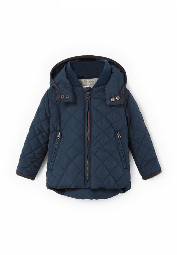 Фото - Куртку утепленная Mango Kids синего цвета
