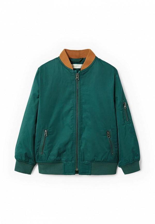 Фото - Куртку утепленная Mango Kids зеленого цвета