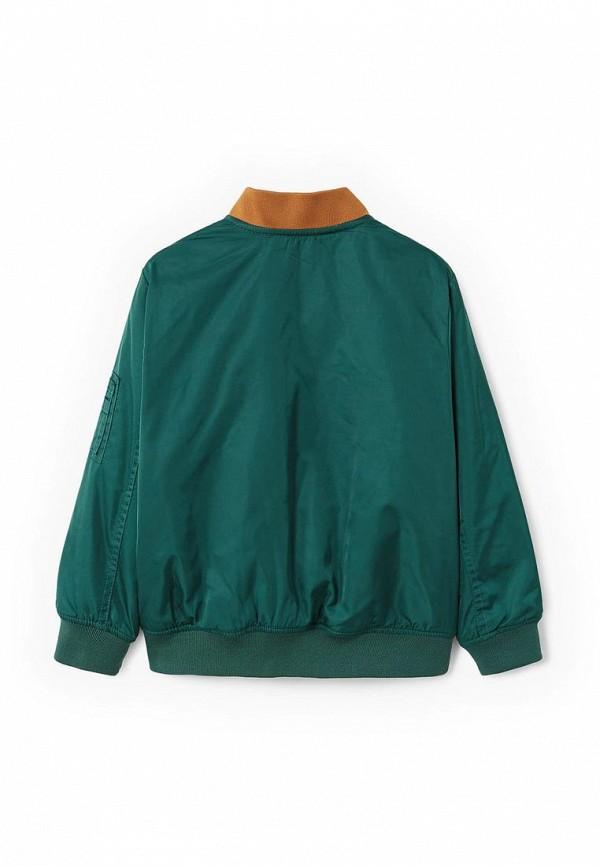 Фото 2 - Куртку утепленная Mango Kids зеленого цвета