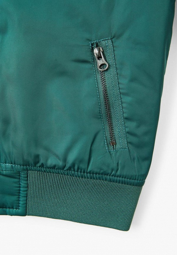 Фото 3 - Куртку утепленная Mango Kids зеленого цвета