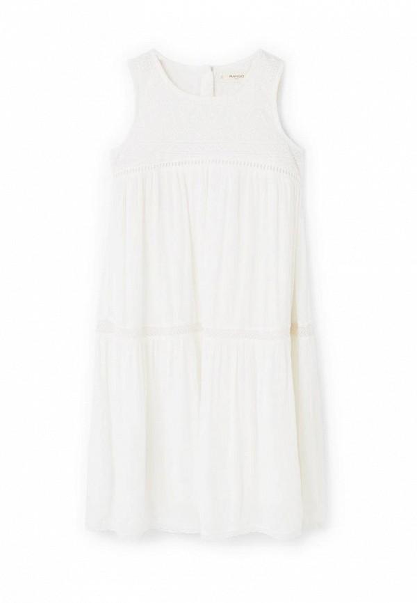 Купить Платье Mango Kids белого цвета