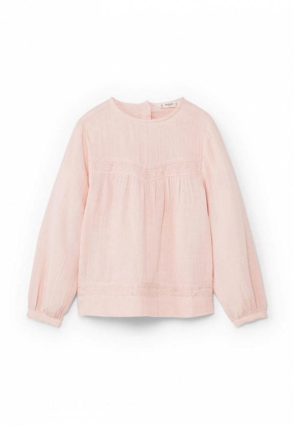 Фото - блузку или рубашку для девочки Mango Kids розового цвета