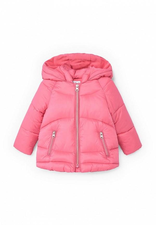 Фото - Куртку утепленная Mango Kids розового цвета