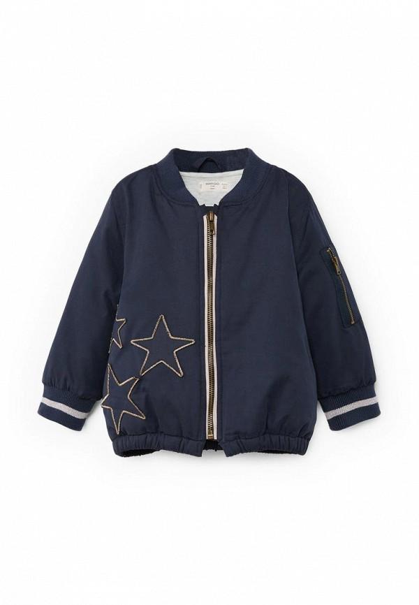Фото - Куртку Mango Kids синего цвета